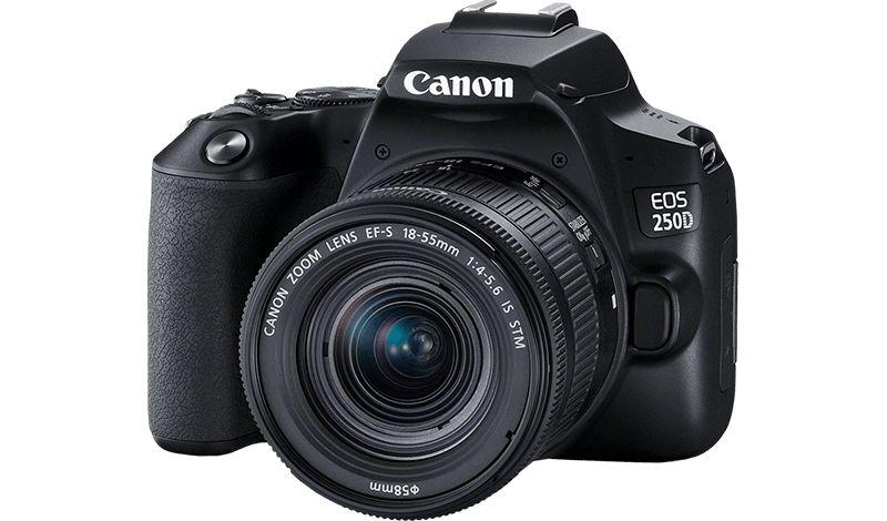EOS 250D cu obiectiv cu zoom standard