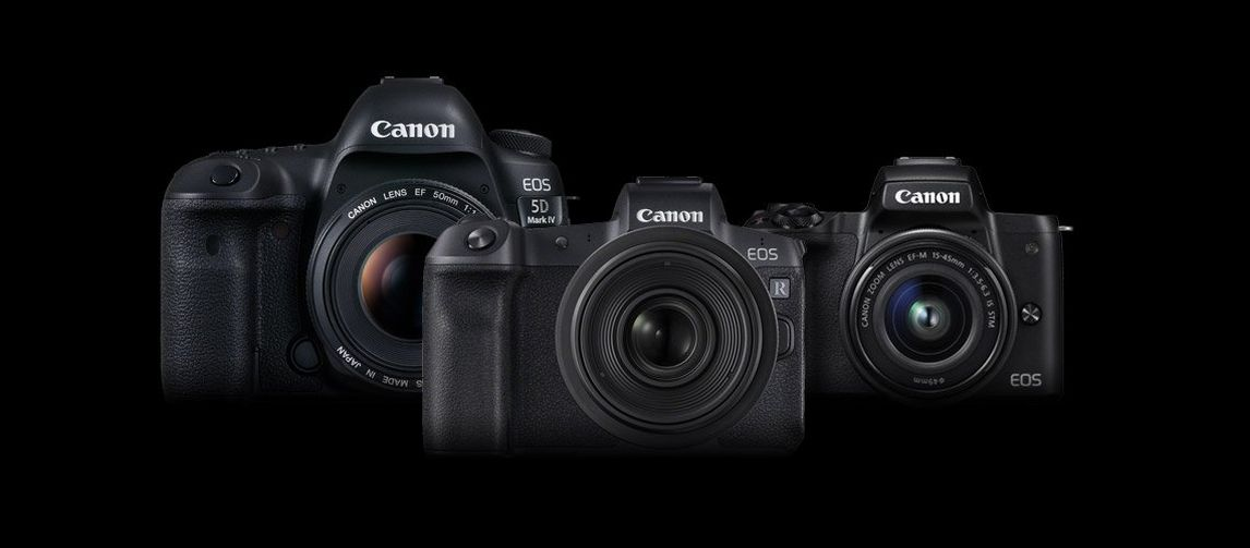 Canon EOS 5D Mark IV, EOS R & EOS M50
