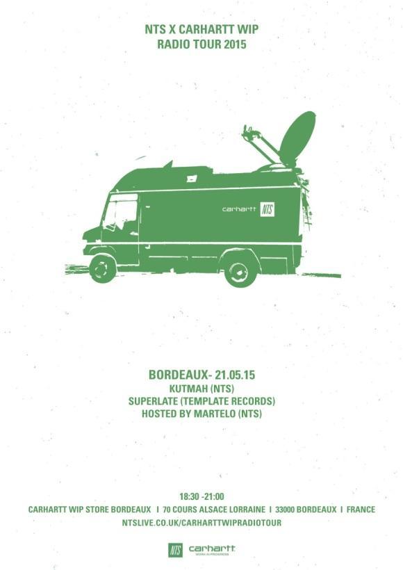 Carhartt WIP France/Spain: NTS x Carhartt WIP Radio tour