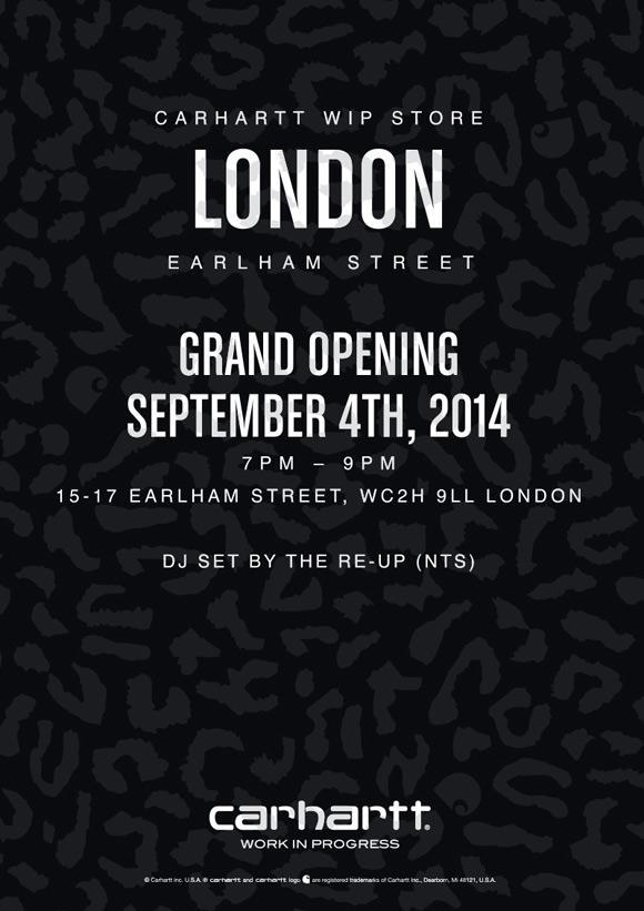 5069ddeb83 Carhartt WIP Carhartt WIP Store London: Grand Opening | carhartt-wip.com