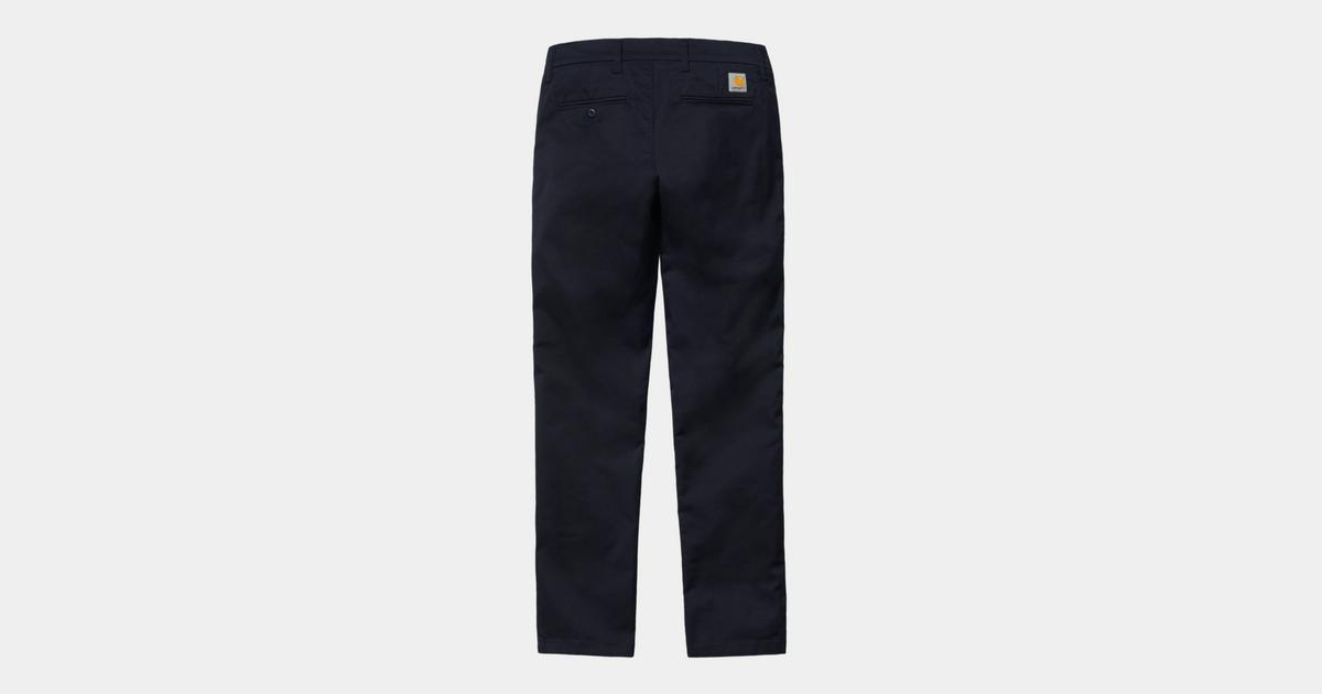 Carhartt Mens Sid Pant IO03367 Chino Trousers in Navy Rinsed