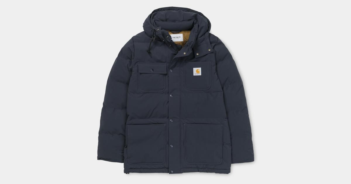 Alpine Carhartt Brown Vestes Hamilton Navy Wip Dark Coat BOqgxBr