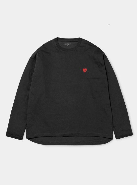 68a70d4acc44 W  L S Ann Heart T-Shirt