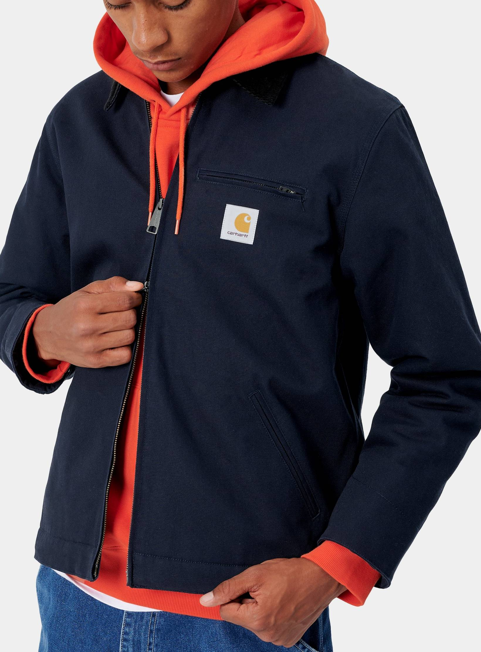 Jacket Carhartt Og Detroit Jacket Size M Dark Navy Rigid