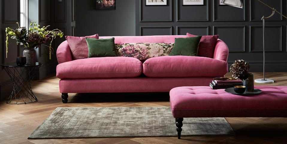 Fliss fabric 3 Seater Sofa