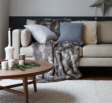 DFS cosy winter home sofa