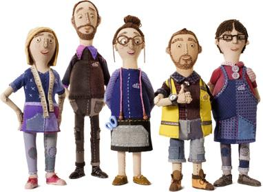 DFS factory workers Aardman photo