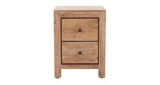 Acacia 2 Drawer Bedside Chest