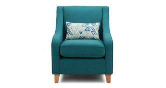Adora Accent Chair with Pattern Bolster