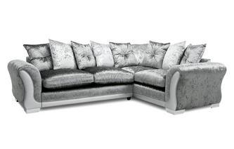 Pillow Back Left Hand Facing Arm 3 Seater Corner Sofa