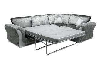 Formal Back Left Hand Facing Arm 3 Seater Deluxe Corner Sofa Bed