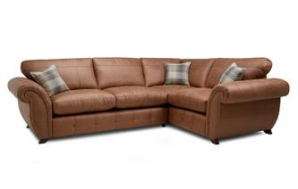 Formal Back Left Hand Facing 3 Seater Corner Sofa Bed