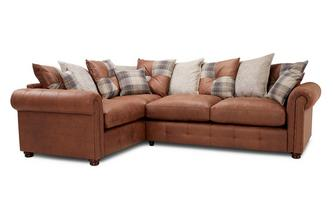 Pillow Back Right Hand Facing 3 Seater Corner Sofabed