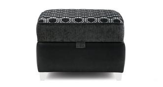 Alessio Pattern Top Storage Footstool