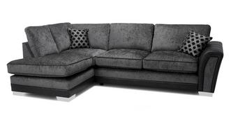 Alessio Formal Back Right Hand Facing 3 Seater Open End Corner Sofa