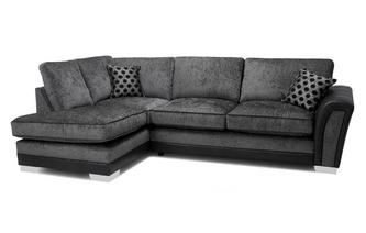 Formal Back Right Hand Facing 3 Seater Open End Corner Sofa Alessio