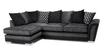 Alessio Pillow Back Right Hand Facing 3 Seater Open End Corner Sofa