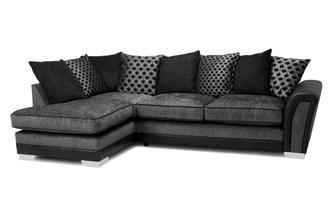 Pillow Back Right Hand Facing 3 Seater Open End Corner Sofa Alessio