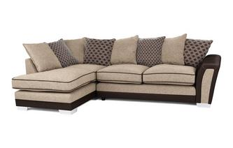 Alessio Pillow Back Right Hand Facing 3 Seater Open End Corner Sofa Alessio
