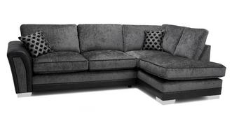 Alessio Formal Back Left Hand Facing 3 Seater Open End Corner Sofa