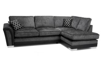 Formal Back Left Hand Facing 3 Seater Open End Corner Sofa Alessio