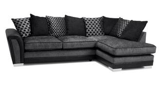 Alessio Pillow Back Left Hand Facing 3 Seater Open End Corner Sofa