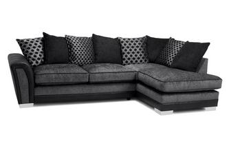 Pillow Back Left Hand Facing 3 Seater Open End Corner Sofa Alessio