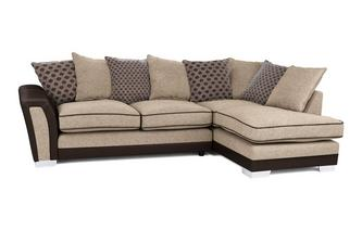 Alessio Pillow Back Left Hand Facing 3 Seater Open End Corner Sofa Alessio