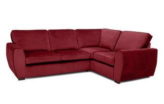 Velvet Left Hand Facing 2 Seater Corner Sofa