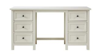 Algarve Double Pedestal Dressing Table