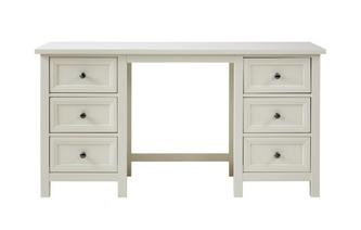 Double Pedestal Dressing Table Algarve