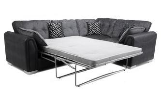 Formal Back Left Hand Facing Deluxe Sofabed Corner Sofa