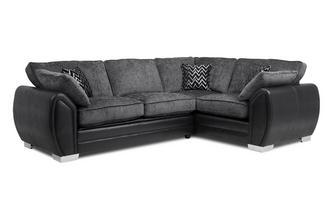 Formal Back Left Hand Facing 3 Seater Corner Sofa