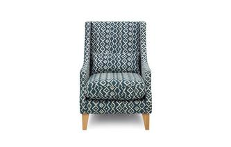 Aztec Accent Chair with 1 Bolster