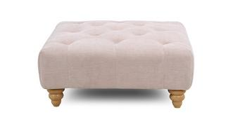 Amour Square Button Top Footstool