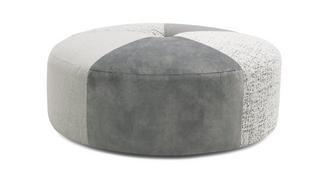 Anaya Pattern Round Footstool