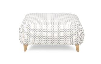 Pattern Large Footstool Angelic Pattern