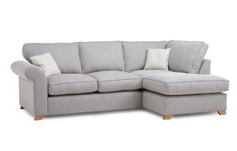 Left Hand Facing Arm Deluxe Corner Sofa Bed