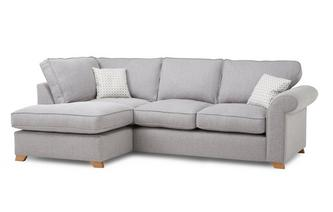 Right Hand Facing Arm Deluxe Corner Sofa Bed