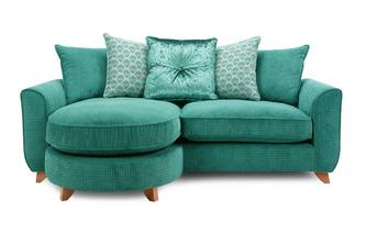 Pillow Back 4 Seater Lounger Sofa