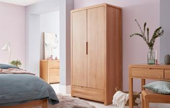 Archer Bedroom 2 Door 1 Drawer Wardrobe Archer