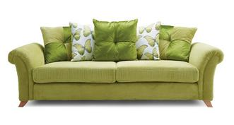 Arica Pillow Back 4 Seater Sofa
