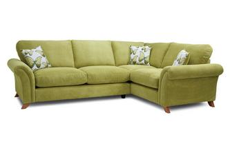Formal Back Left Hand Facing 3 Seater Corner Sofa Arica