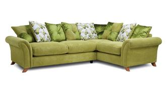 Arica Pillow Back Left Hand Facing 3 Seater Corner Sofa