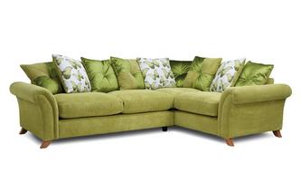 Pillow Back Left Hand Facing 3 Seater Corner Sofa Arica