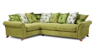 Arica Pillow Back Right Hand Facing 3 Seater Corner Sofa