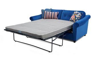 Velvet 3 Seater Deluxe Sofa Bed