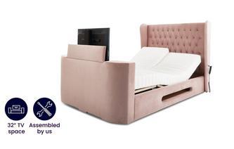 Super King Size TV Adjustable Bedframe With Dreamatic Mattress