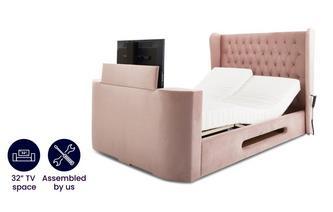 Super King Size TV Adjustable Bedframe With Viscomatic Mattress