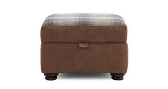 Augustus Check Top Storage Footstool